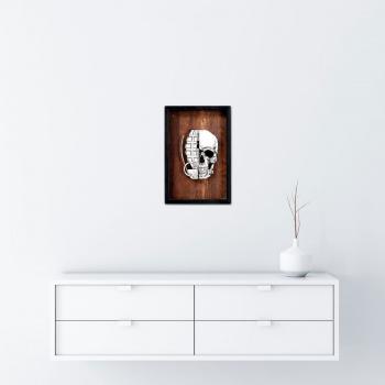 He Skull (Wood Edition) von xxxhibition - Raumansicht