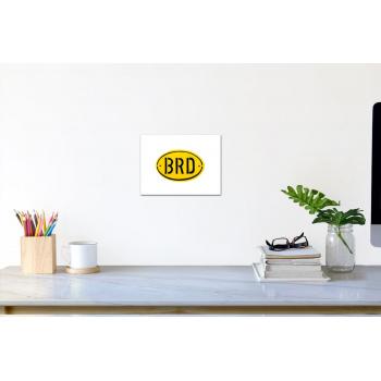 BRD-Banane (klein) von Thomas Baumgärtel - Raumansicht