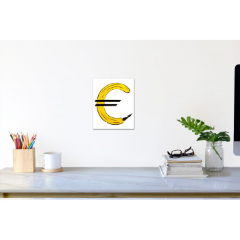 Euro-Banane (klein) von Thomas Baumgärtel - Raumansicht
