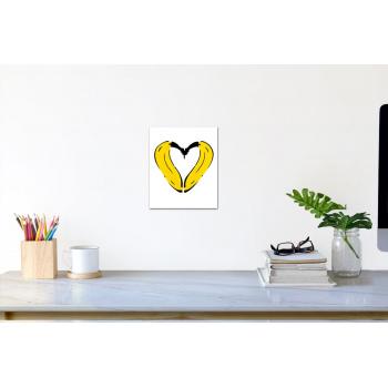 Herz-Banane (klein) von Thomas Baumgärtel - Raumansicht