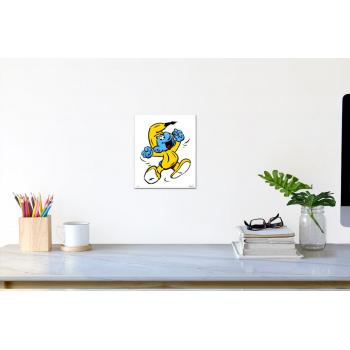 Schlumpf-Banane (klein) von Thomas Baumgärtel - Raumansicht