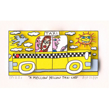 A mellow yellow taxi cab von James Rizzi