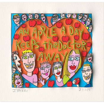 An apple a day keeps the doctor away von James Rizzi