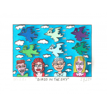 Birds in the sky von James Rizzi