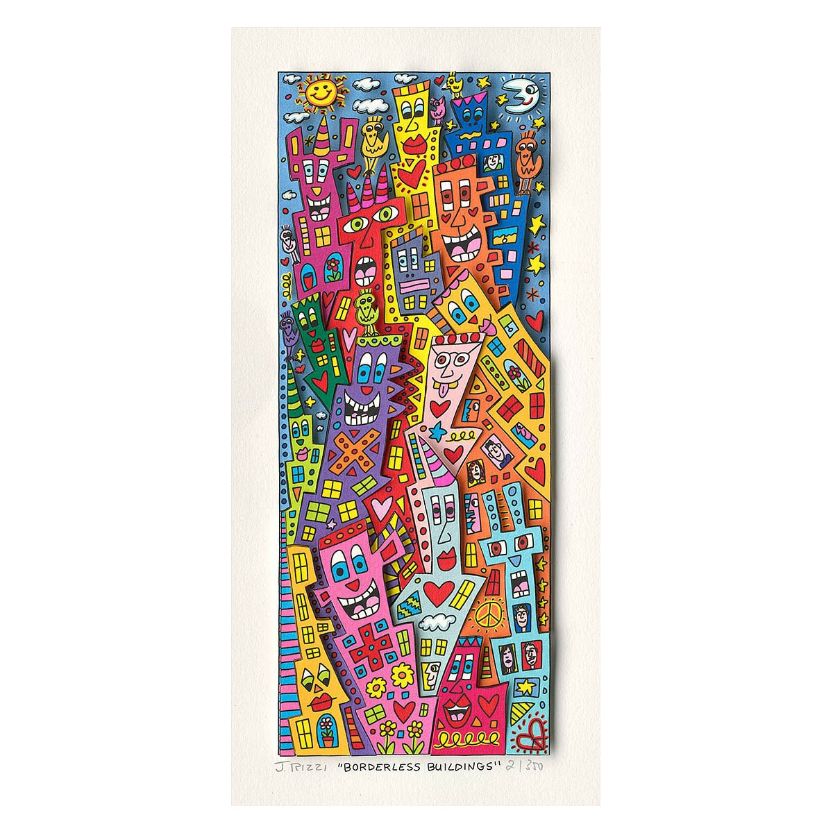 Borderless buildings von James Rizzi