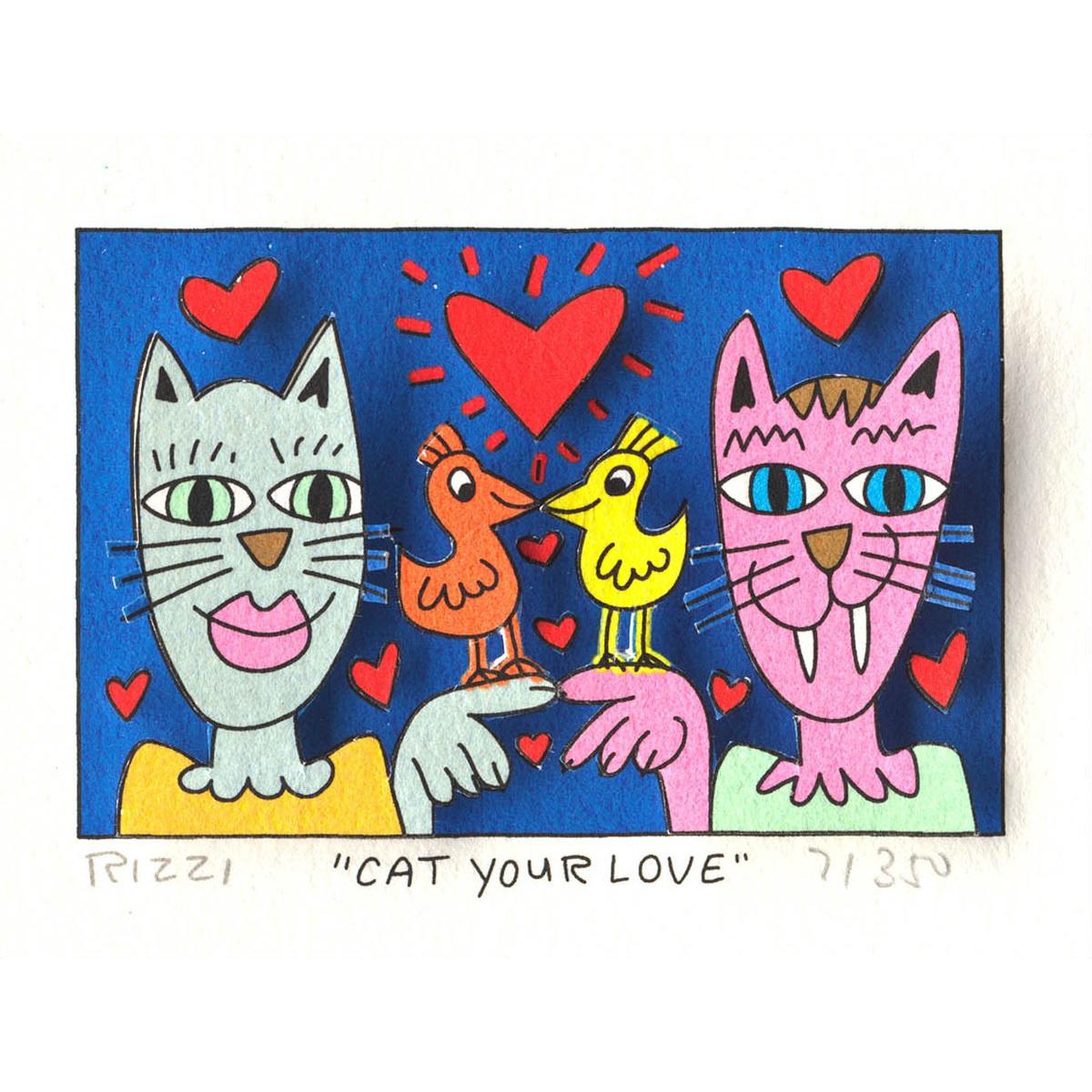 Cat your love von James Rizzi