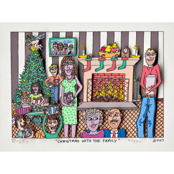 Christmas with the family von James Rizzi