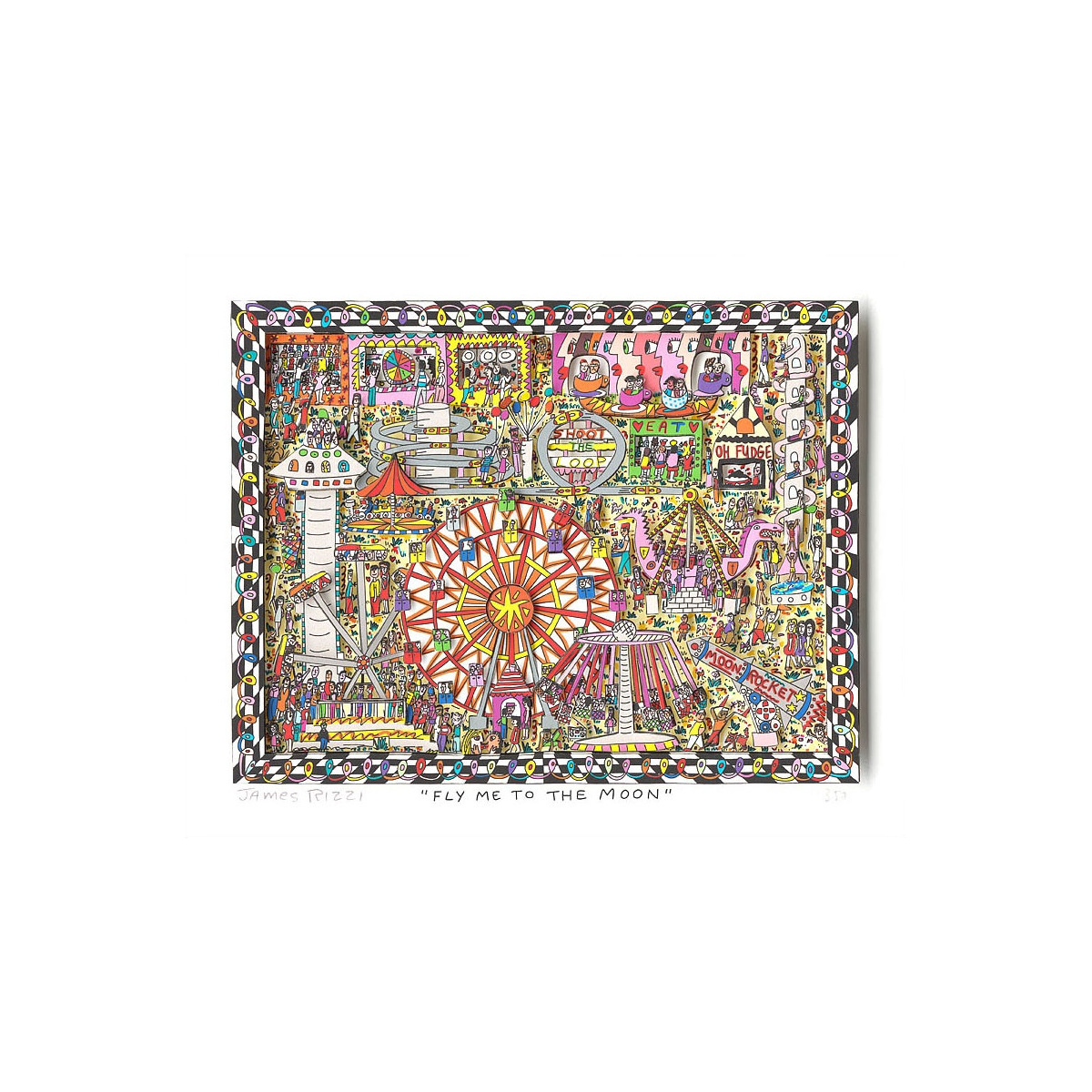 Fly me to the moon von James Rizzi