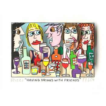 Having drinks with friends von James Rizzi