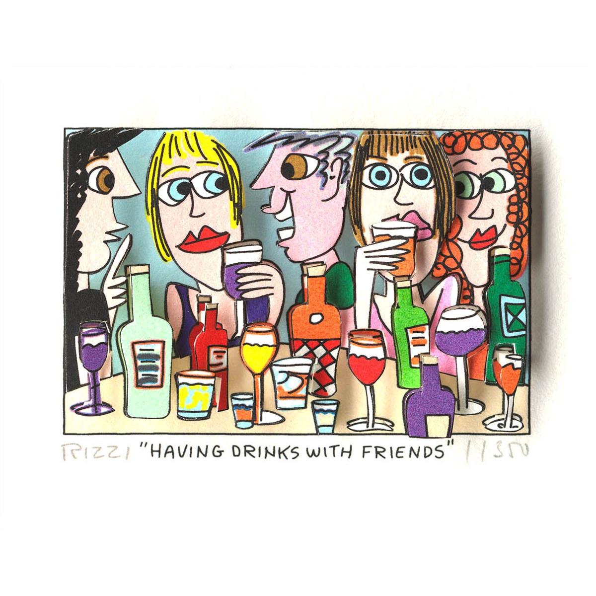 Having drinks with friends von James Rizzi