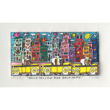 Hello yellow ride back home von James Rizzi