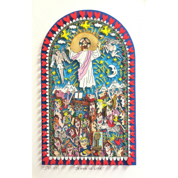 Jesus is life von James Rizzi