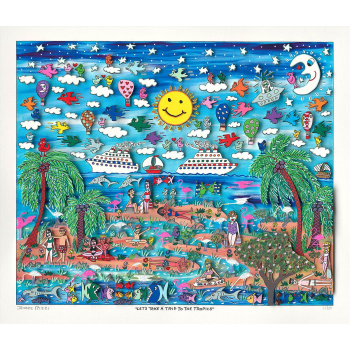 Let's take a trip to the tropics von James Rizzi
