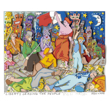 Liberty leading the people von James Rizzi