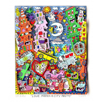 Love makes a city pretty von James Rizzi