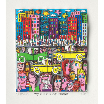 My city is my friend von James Rizzi