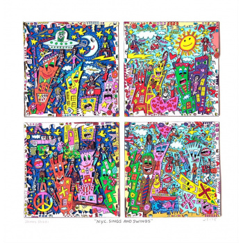 N.Y.C. sings and swings von James Rizzi