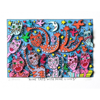 Nine cats with nine lives von James Rizzi