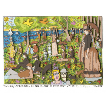Sunday afternoon on the island of La Grande Jatte von James Rizzi