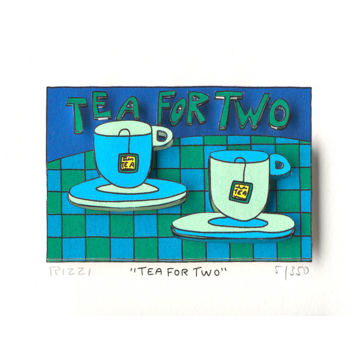 Tea for two von James Rizzi