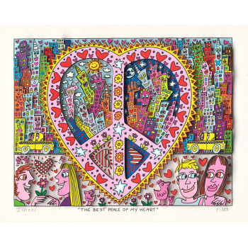 The best peace of my heart von James Rizzi
