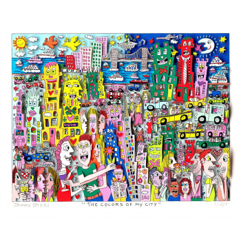 The colors of my city von James Rizzi