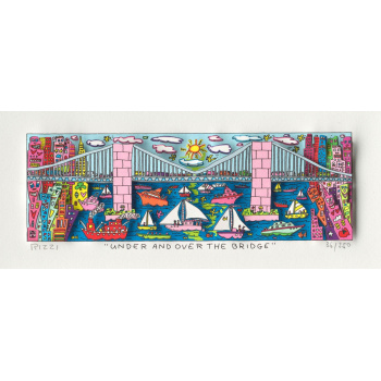 Under and over the bridge von James Rizzi