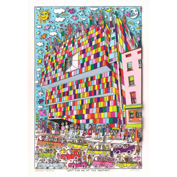 Wait for me at the whitney von James Rizzi