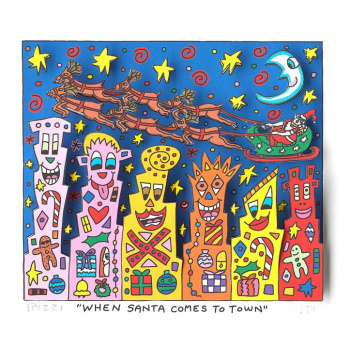 When Santa comes to town von James Rizzi