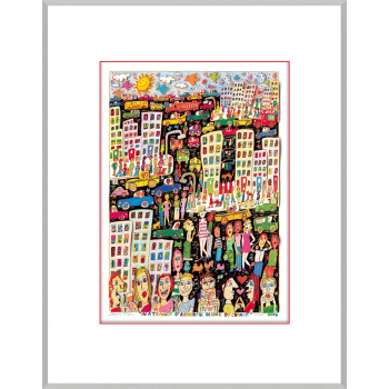 In a trance of a colorful glance by chance von James Rizzi mit Magnetrahmen