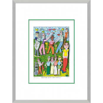 Golfing with the family von James Rizzi mit Magnetrahmen
