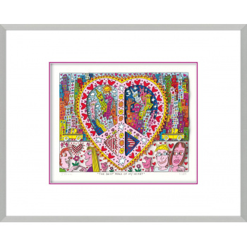 The best peace of my heart von James Rizzi mit Magnetrahmen