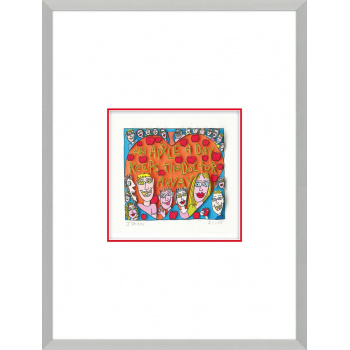 An apple a day keeps the doctor away von James Rizzi mit Magnetrahmen