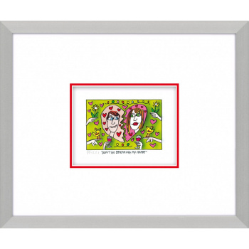 Don't go breaking my heart von James Rizzi mit Magnetrahmen