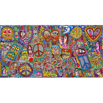 Give peace a chance I - IV von James Rizzi