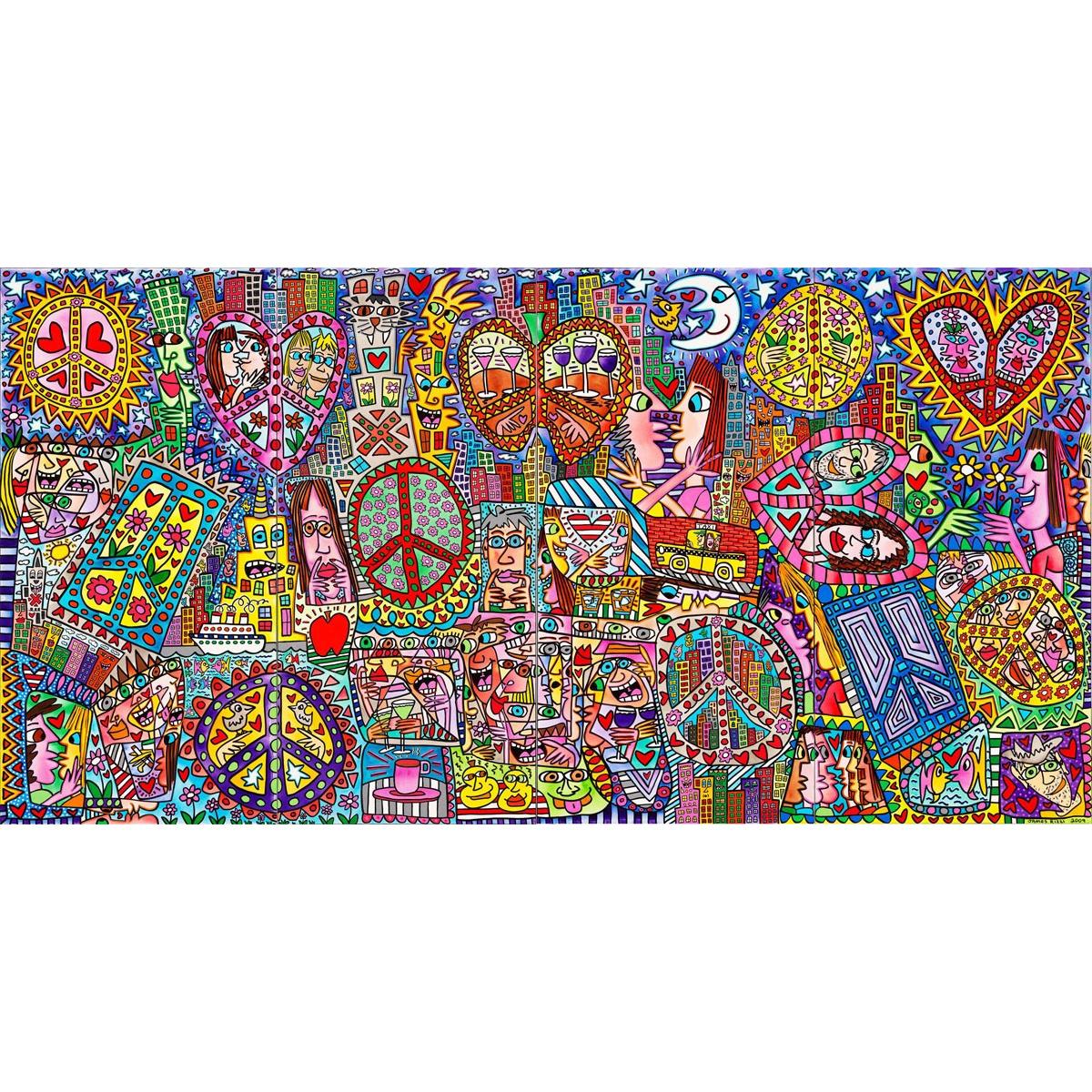 Give peace a chance I - IV von James Rizzi