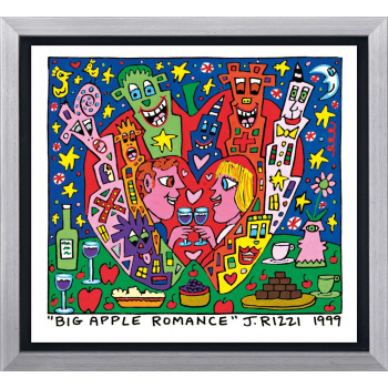 Big apple romance von James Rizzi mit Rahmung