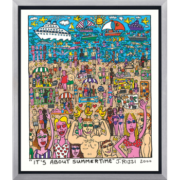 It's about summertime von James Rizzi mit Rahmung
