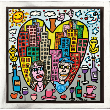 You are the apple of my eye von James Rizzi mit Rahmung