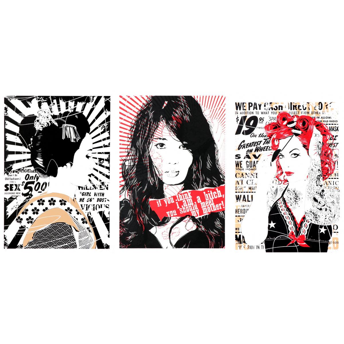 Matching numbers: Geisha Taeko, Gloria & AOI