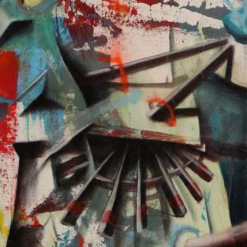 Detailausschnitt 1 aus Radbrüter von Ben Burkard
