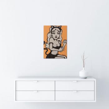 Meow gold von Ewen Gur - Raumansicht
