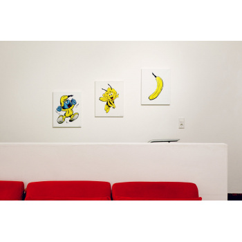 Drei Metamorphosen von Thomas Baumgärtel in der Bildgröße 50 x 40 cm.