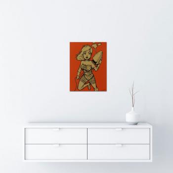 Iron Woman - Gold von Ewen Gur - Raumansicht