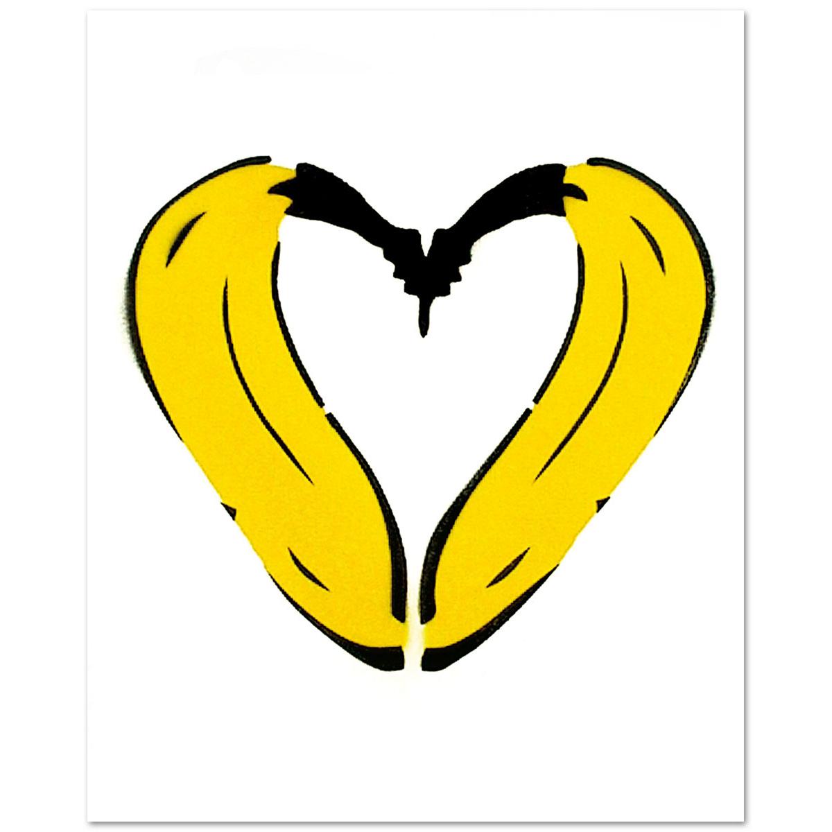 Herz-Banane von Thomas Baumgärtel