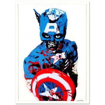 Captain America von Marshal Arts in weißer Rahmung