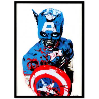 Captain America von Marshal Arts in schwarzer Rahmung