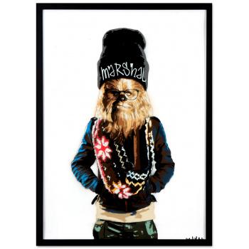 Chewbacca von Marshal Arts in schwarzer Rahmung