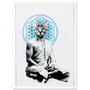 Meowditation #1 by MEOW with white frame