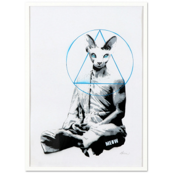 Meowditation #2 by MEOW with white frame